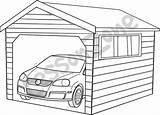 Garage Coloring Pages Template sketch template