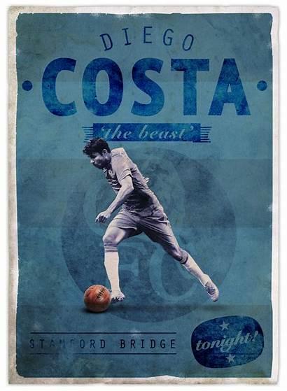 Football Posters Retro Emilio Sansolini Behance Poster