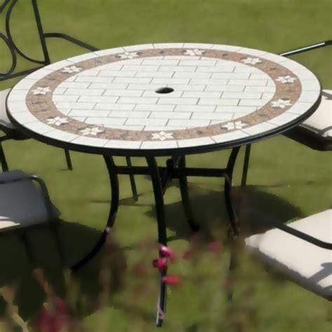 sofia ceramic tile table