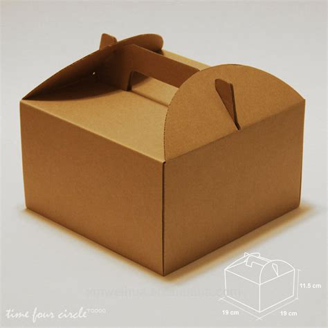 box cuisine custom food packaging white cardboard paper bakery cake