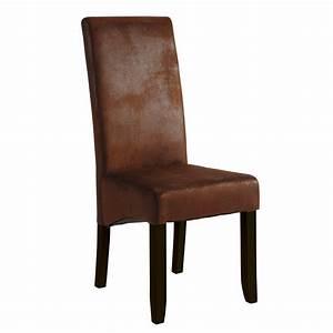 salle a manger orange et taupe With deco cuisine avec chaises cuir marron salle manger