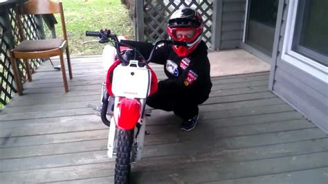 year  boy start honda crf  trail bike  st day