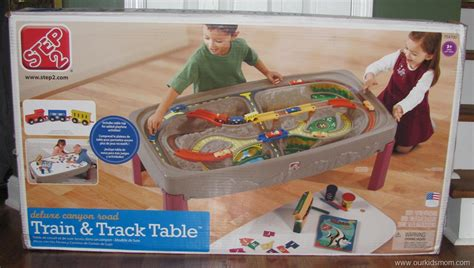 step2 deluxe canyon road train track table review