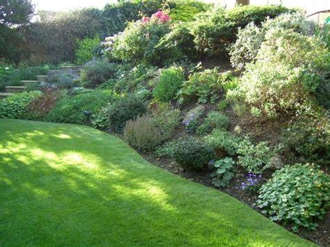 slope garden idea sloping garden pinterest gardens