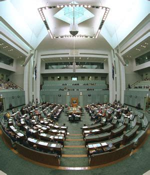what are the names of the two houses of congress about the house of representatives parliament of australia