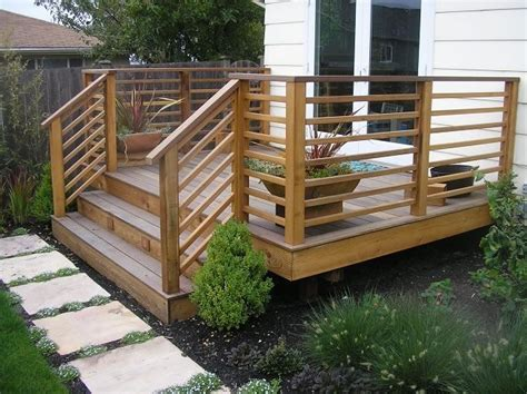 wood deck railing ideas  pinterest deck railing design wood railing ideas  deck