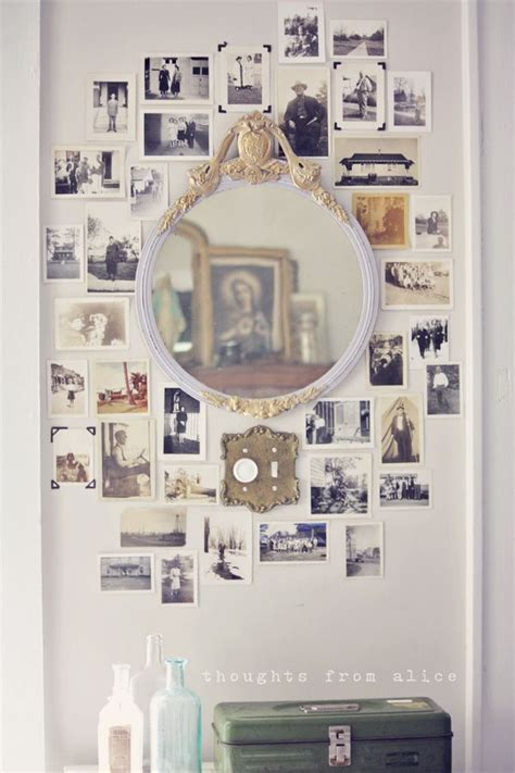 vintage photo wall collage thoughts  alice alice