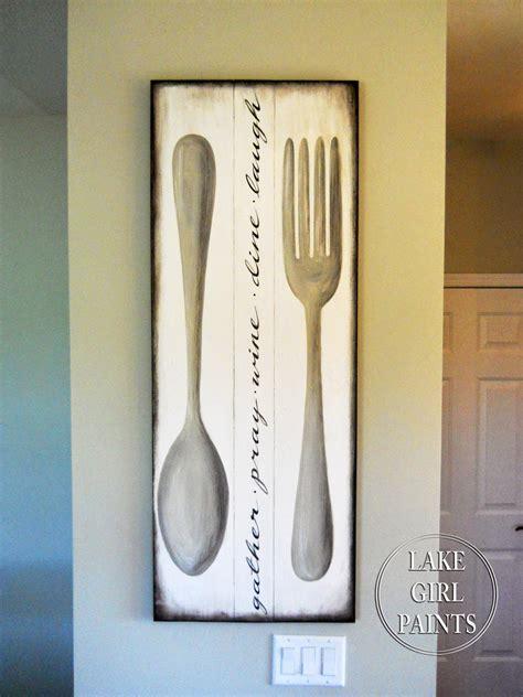 lake girl paints making dining room wall art