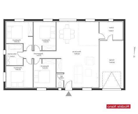 plan de maison 5 chambres plain pied gratuit plan maison 100m2 plein pied gratuit dessiner un plan de