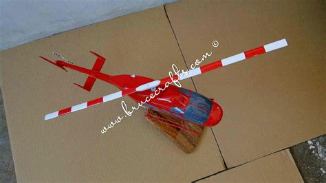 bell  red yellow mahogany wooden aircraft models