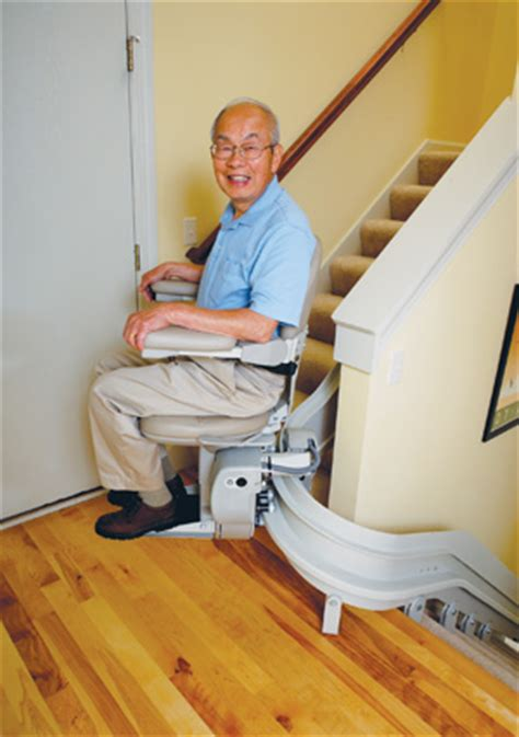 curved stair lift or two stair lifts accessible