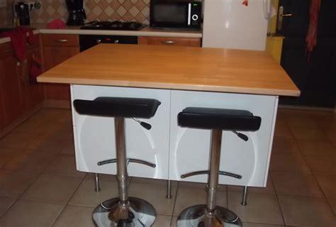 meubles de cuisine bas fabriquer ilot central sur mesure avec