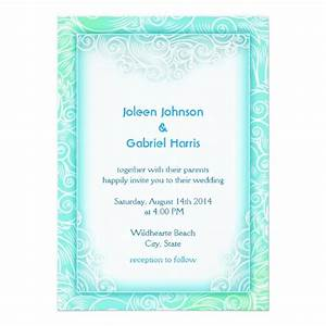 lovely seafoam aqua mint and white beach wedding With minted beach wedding invitations