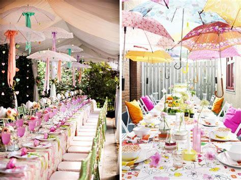 Umbrella Garden Decoration by Outstanding Umbrella Decoration For Wedding Reception