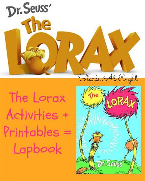 the lorax activites printables lapbook startsateight 748 | The Lorax Activities