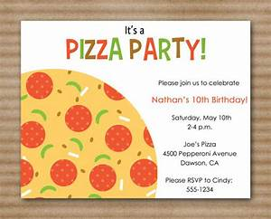 pizza party invitation slumber party by paperhousedesigns With pizza party flyer template free