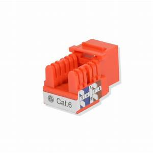 Cat6 Keystone Jack 110 Punch Down Network Ethernet Rj45