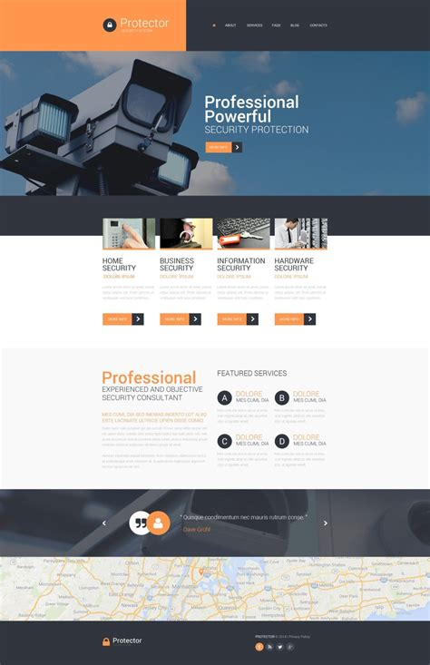 Security Website Template 51095   Templates.com