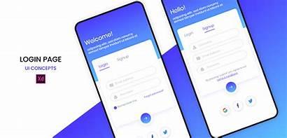Login Template Xd Mobile Signup Xdguru