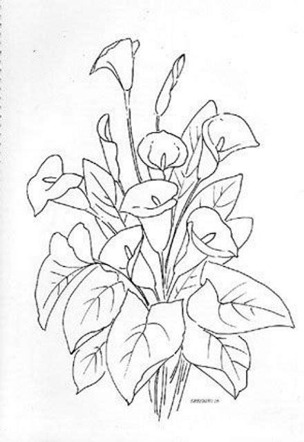 dibujos de calas para imprimircala flor dibujo buscar con