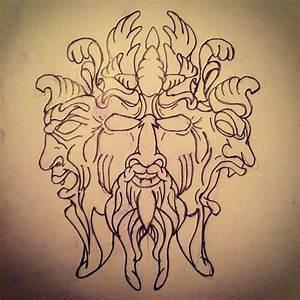 Three faces of power tattoo sketch by - Ranz | Pinterest ...
