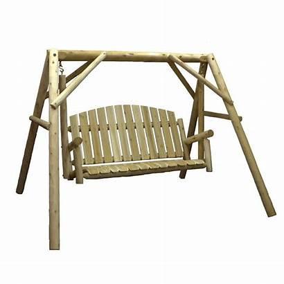 Swing Porch Wood Garden Yard Patio Mills