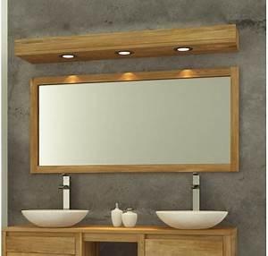 Miroir Étagère Salle De Bain : miroir de salle de bain teck massif 140 x 70 mobilier de salle de bain meubles bois ~ Melissatoandfro.com Idées de Décoration