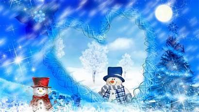 Winter Wallpapers Desktop Snowman Christmas Dreams
