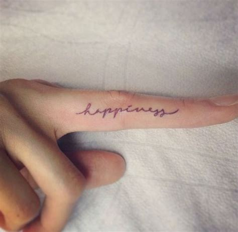 happiness  adorable tiny finger tattoos  girls
