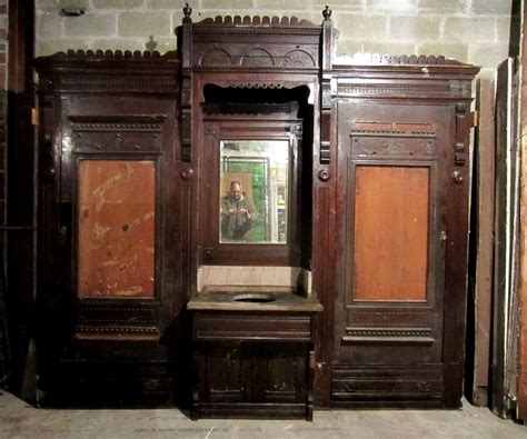 vintage kitchen cabinets salvage antique carved oak closet front built in butlers pantry