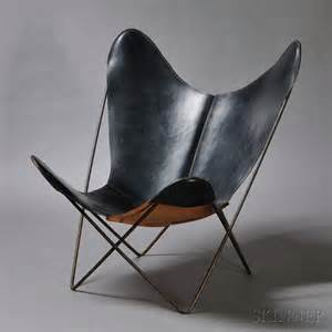 Wrought Iron Butterfly Chair by Leather Butterfly Lounge Chair