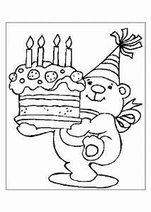 Dessin Gateau Anniversaire : coloriage anniversaire g teau nounours ~ Melissatoandfro.com Idées de Décoration