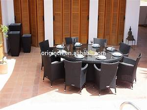 8 places pratique balcon toit restaurant ovale rotin table With salle a manger 8 places