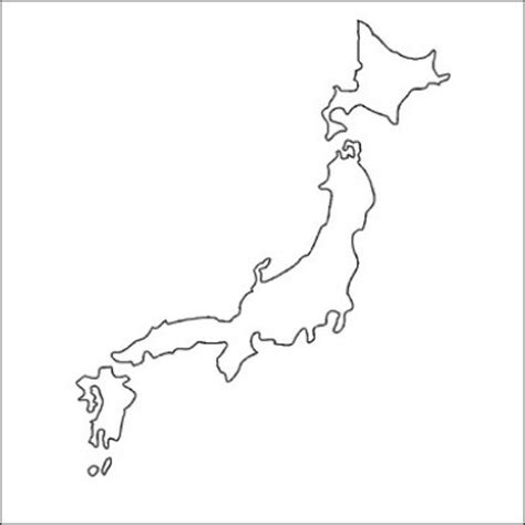 bumper sticker  country map japan outline