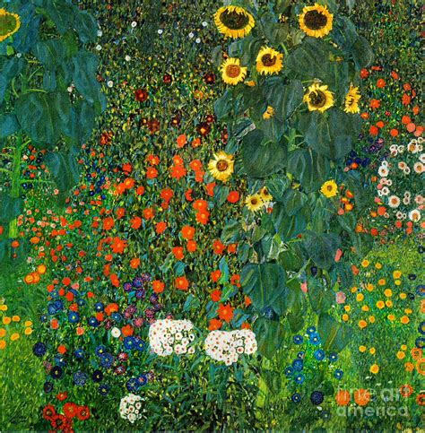 country garden with sunflowers by gustav klimt discover