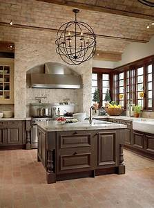Stylish kitchens with brick walls and ceilings digsdigs