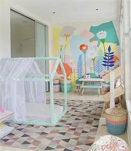 1001 idees pour amenager une chambre montessori With chambre bébé design avec tapi de fleur