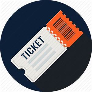 Cinema, concert, entry, fare, movie, raffle, ticket icon ...