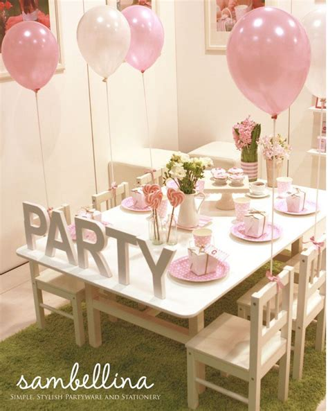 pretty girls party table princess party pink party