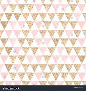 Seamless Geometric Abstract Background Gold Pink Stock ...
