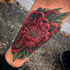 75+ Cool Chrysanthemum Tattoo Designs - Pass Your Message ...