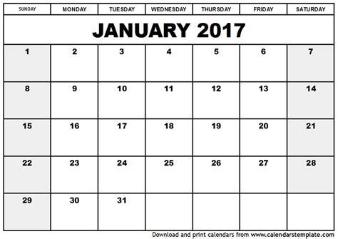 free calendar templates free calendar template 2017 cyberuse