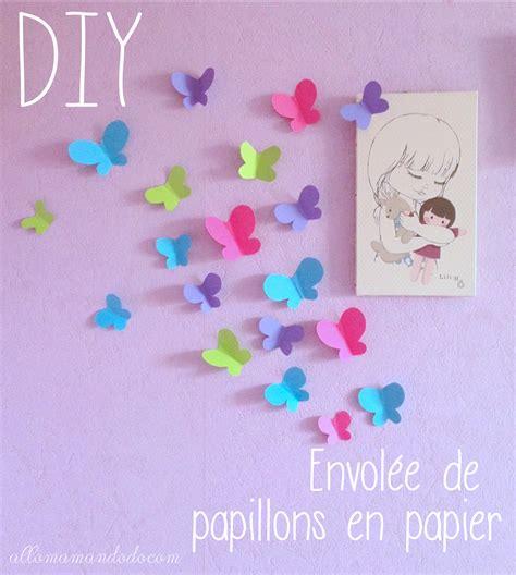 idee deco pour chambre fille diy envolée de papillons en papier activité pour enfants
