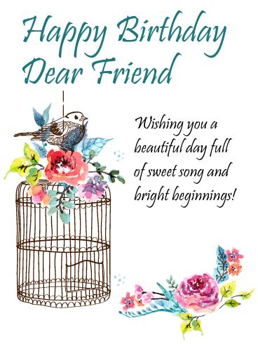 sweetest friend happy birthday card birthday