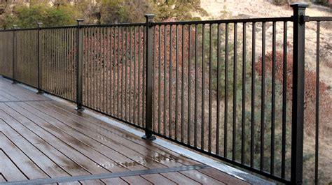 steel deck handrails metal deck railing decksdirect