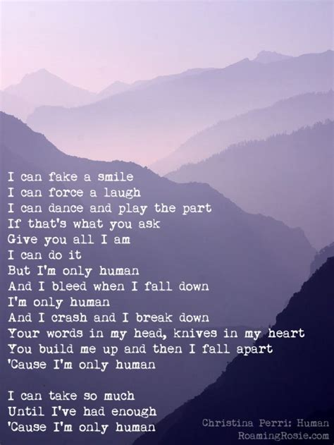 Human Lyrics Christina Perri Quote