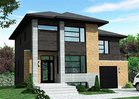 Dynamic Contemporary House Plan  90272pd Architectural