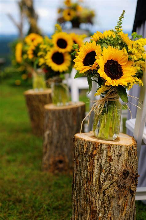 natural vineyard wedding  sunflowers   wedding