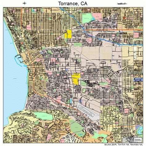 torrance california street map 0680000
