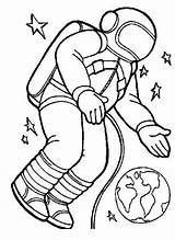 Astronaut Coloring Space Pages Orbit Spacesuit Floating Gravity Zero Printable Cartoon Suit Drawing Print Clip Preschool Clipart Travel Colouring Shuttle sketch template
